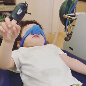 3歳児、ついに歯の神経の治療を受ける。