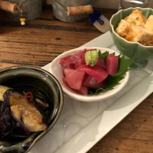地下街呑み!おばんざい三種盛に日本酒@やいちゃん(名古屋)