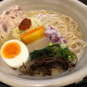 濃厚!白湯麺に替玉バジルバター@ORIBE(豊橋)