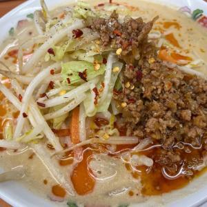 ゼロ飲み!辛さ激増し野菜たっぷり担々麺@餃子の王将(豊橋)