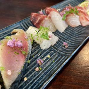京都呑み!日本酒に食べたいお造り三種盛@遊亀(京都)