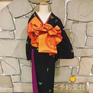 ハロウィン 着物で仮装はいかがですか 前結びで遊女風