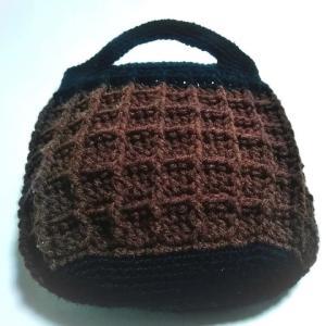 かぎ針編みのワッフルバッグ2