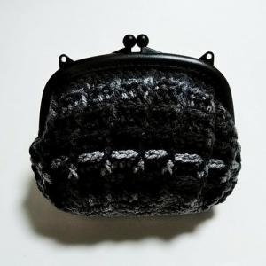 セリアの毛糸ケークで編んだがま口バッグ