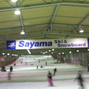 初滑りは狭山スキー場