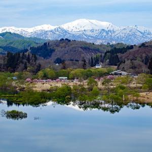 水鏡(白川湖ダム)