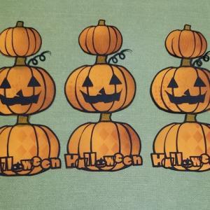 かぼちゃを重ねる・・カードみたいな。