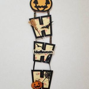 ハロウィン壁掛け ** 縦に飾るか横に飾るか