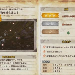MHW:I 観察日記~瘴気の谷/谷のぶんどり族「大物を捕らえよ!」