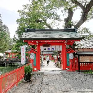 生島足島神社で鯉えさやり@信州上田