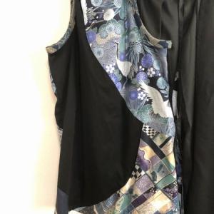 女性の和太鼓衣装 クール系和柄タンクトップ&袴風ワイドパンツ