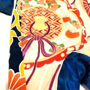 男の子ベビー服 出産祝い カバーオール&スタイ 豪華で派手 紺×ゴールド