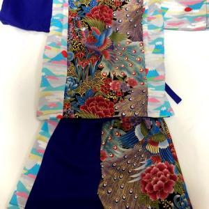 ベストキッズオーディション衣装に親子リンクコーデ 和柄甚平&着物襟風ワンピース