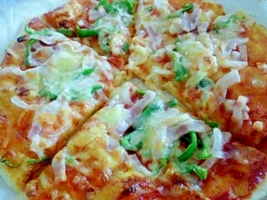オーブントースターでおいしいピザ