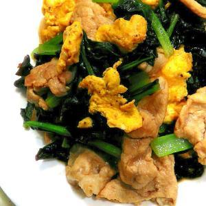 オイスターソースで味付け簡単☆小松菜と卵炒め