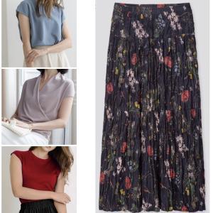 このユニクロのスカートに合うトップス探してます。