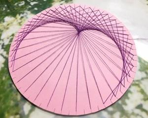 糸かけ曼荼羅『コスモサークル』〜ハートからの、蝶々