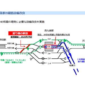 【JR西日本】JRゆめ咲線の輸送改善を発表。西九条駅の構内改善
