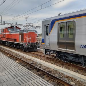 南海8300系の甲種車両輸送をみる(2019.12.11)