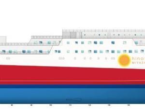 【宮崎カーフェリー】新造船の建造契約締結を発表。2022年就航予定