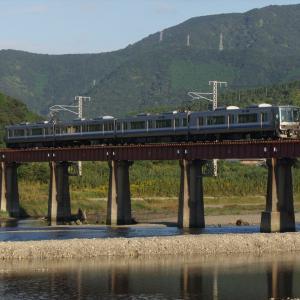 きのくに線・日置川橋梁での撮影記録(2020.10.24・午前の部)223系・105系・287系