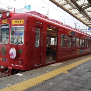 和歌山電鐵「おもちゃ電車」ラストランヘッドマーク掲出を見にいく(2021.8.1)