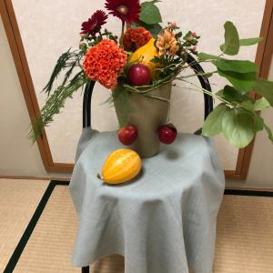 和モダン   かぼちゃのアレンジ