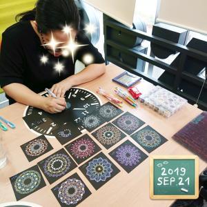 今回は新宿で曼荼羅アートワークショップを開催しました♪