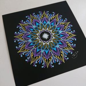久しぶりに描いた曼荼羅アートもまたまたワンパターンに(>_<)