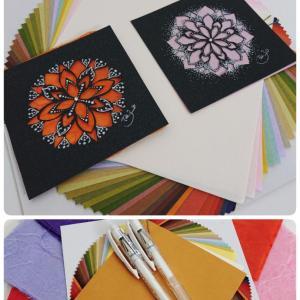 『和を奏でる曼荼羅アート・切り絵+和紙を使って上品に♪』開催致します♪