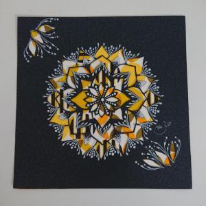 たまにはレトロ調の和紙を使った曼荼羅アートも楽しいかも♪
