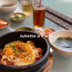 9月22日 『パリジェンヌ七海のニッポン滞在日記』大好きな韓国料理をテラス席で初ミーティング♪