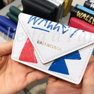 超希少!パリ・バレンシアガ本店でホワイト・グラフィックのペーパーウォレット発見♪ブログ