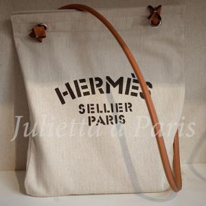 パリの奇跡!世界で1個のみ!エルメスのアリーヌ・トアル地クレ色ショルダーバッグ♪ブログ