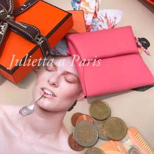 超希少品!ローズアザレ!パリ・エルメスのコインケース2019年秋冬コレクションバスティア♪ブログ