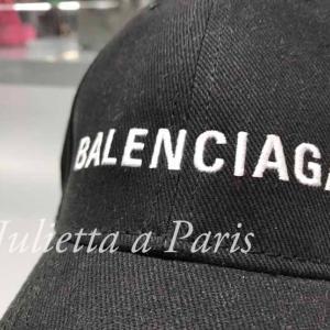 即日発送!大人気のパリのバレンシアガのブラックのキャップ!メンズ&レディース ユニセックスサイズ