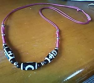 3種類の天珠でネックレス