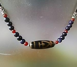 藍沙石と宝瓶天珠
