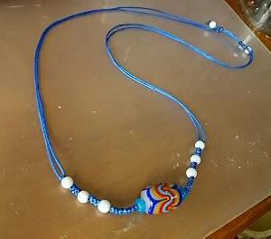 ブルー系ネックレス