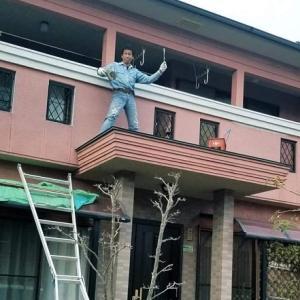 【リノベ20200122】⏹️マイホーム🏠自分でDIY[5]玄関エントランスの屋根の塗り替え🎶■KIMIPONの広場