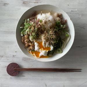 ⭐️暑く日、簡単にできて美味しい'ネバネバぶっかけ素麺'