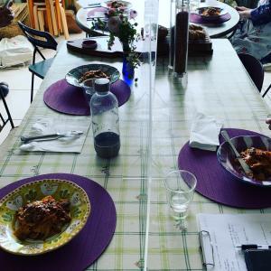 ⭐️鶏と赤ワインのラグーのパスタ」