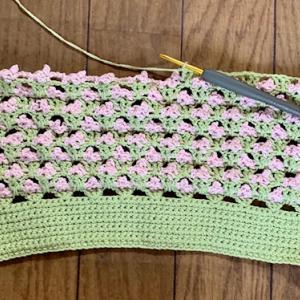 フラットバッグを編む