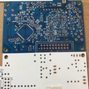 G4SDR開発進捗① 部品実装完了→96x64ドット有機ELに表示してみた