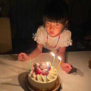 娘が誕生日を迎えました。子供の成長の早いことったら