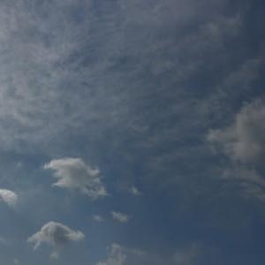 4-10 空は晴れていても.. 緊急事態宣言はどんよりしている(ノ_・。)