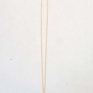 注文品のスモーキークオーツのゴールドネックレス