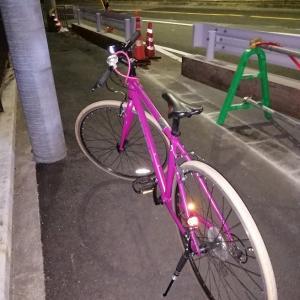 今日のクロスバイクはナイトステージです('◇')ゞ