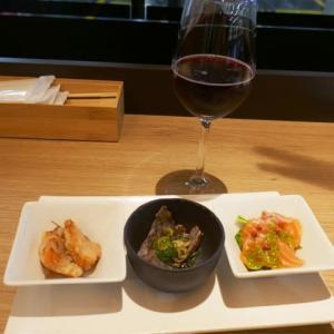 マルーン電車を眺めながら自社ワイナリーのワインと魚☆OSAKA na kitchen☆阪急梅田駅♪