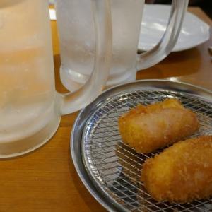 新しいハムカツからの斬新なサラダが面白い☆堂山食堂☆大阪駅前第3ビル